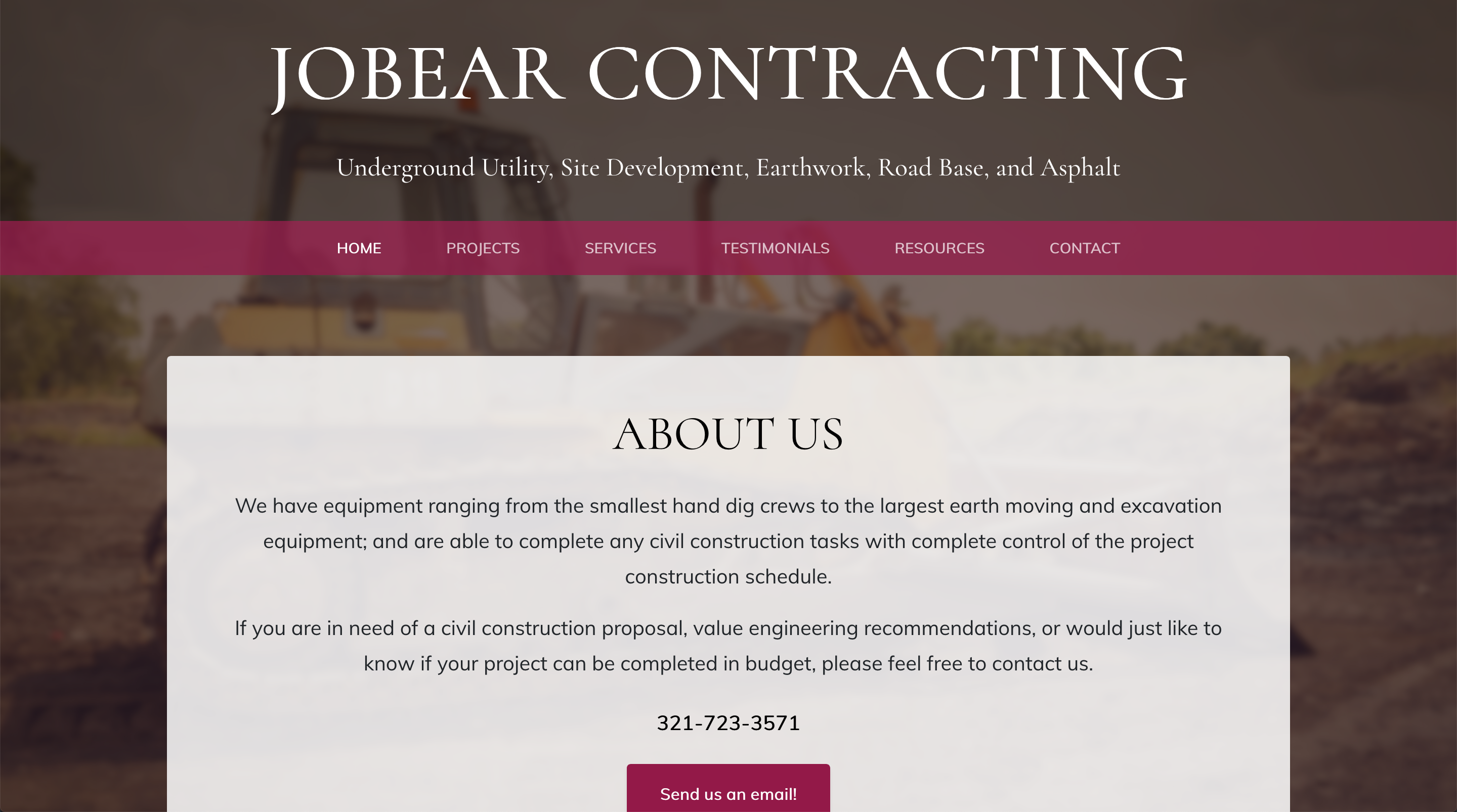 Jobear Contracting, Inc. Homepage