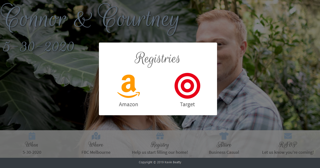 wedding registry links